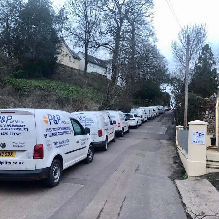 P&P LIfts Fleet of vans
