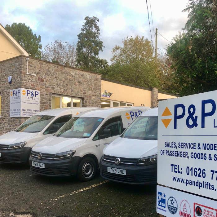 P&P LIfts Fleet of vans